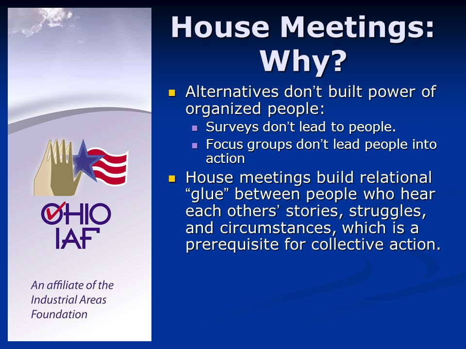 House Meetings: Why.
