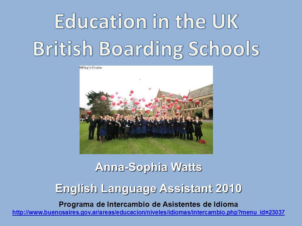 Anna-Sophia Watts English Language Assistant 2010 Programa de Intercambio de Asistentes de Idioma http://www.buenosaires.gov.ar/areas/educacion/niveles/idiomas/intercambio.php menu_id=23037