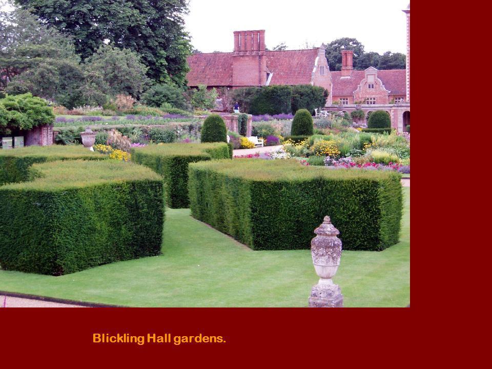 Blickling Hall gardens.