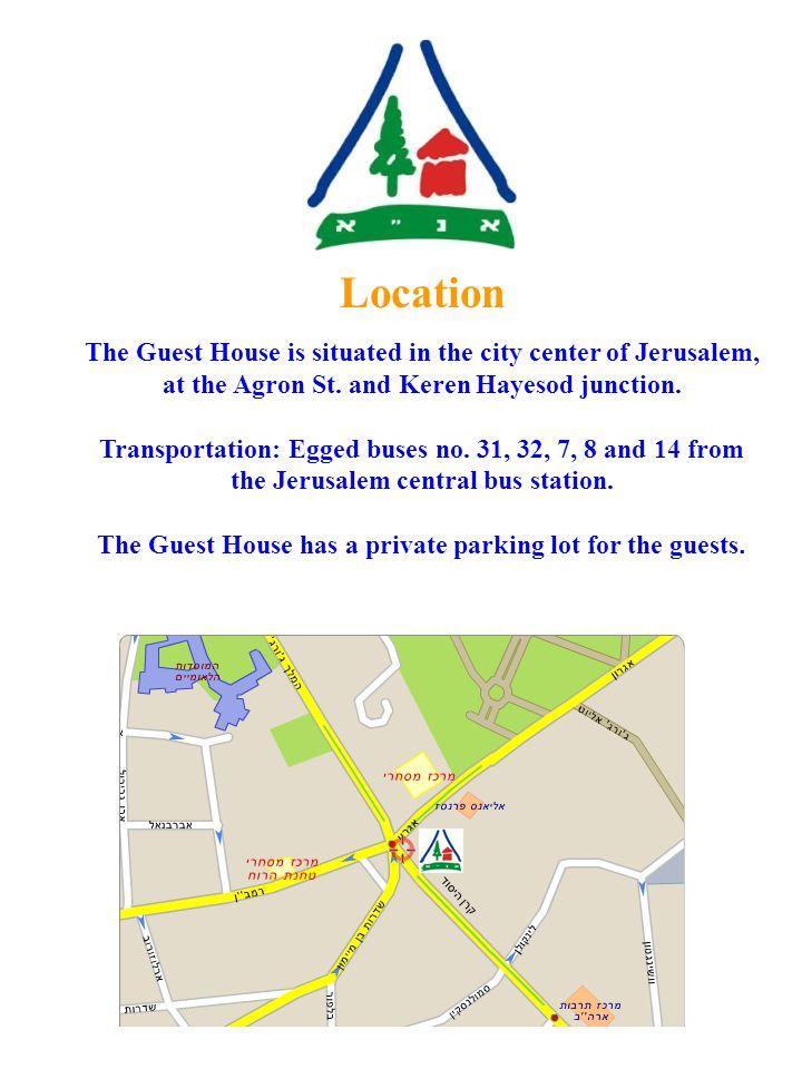 Israel Youth Hostels Association [IYHA] Agron Guest House Jerusalem