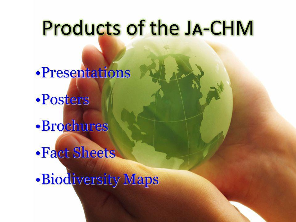 PresentationsPresentations PostersPosters BrochuresBrochures Fact SheetsFact Sheets Biodiversity MapsBiodiversity Maps