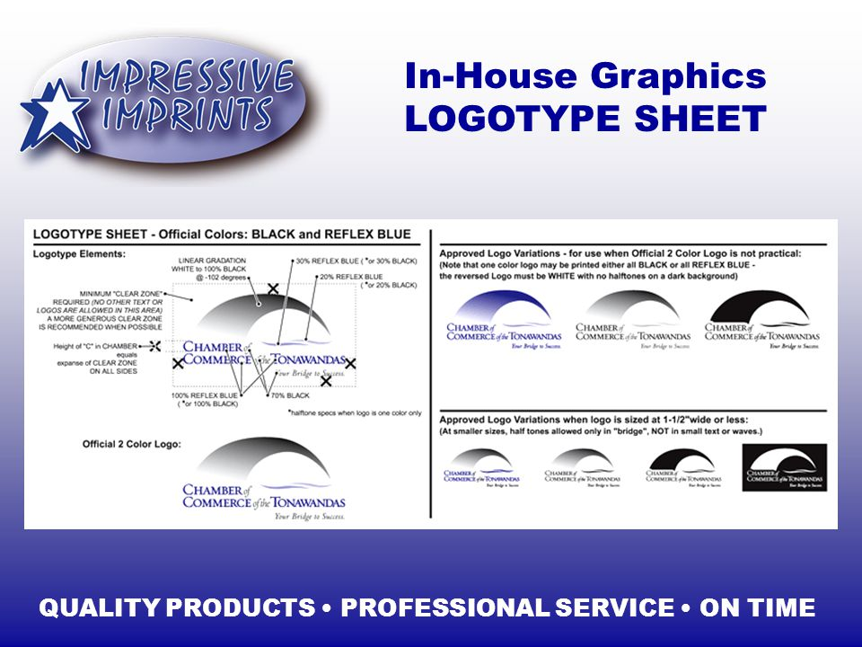 In-House Graphics LOGOTYPE SHEET QUALITY PRODUCTS PROFESSIONAL SERVICE ON TIME