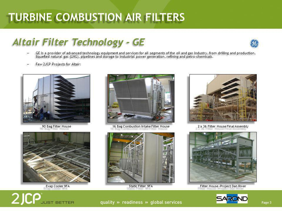 Page 3 90 Bag Filter House 16 Bag Combustion Intake Filter House 2 x 36 Filter House Final Assembly Evap Cooler 9FA Static Filter 9FA Filter House –Pr