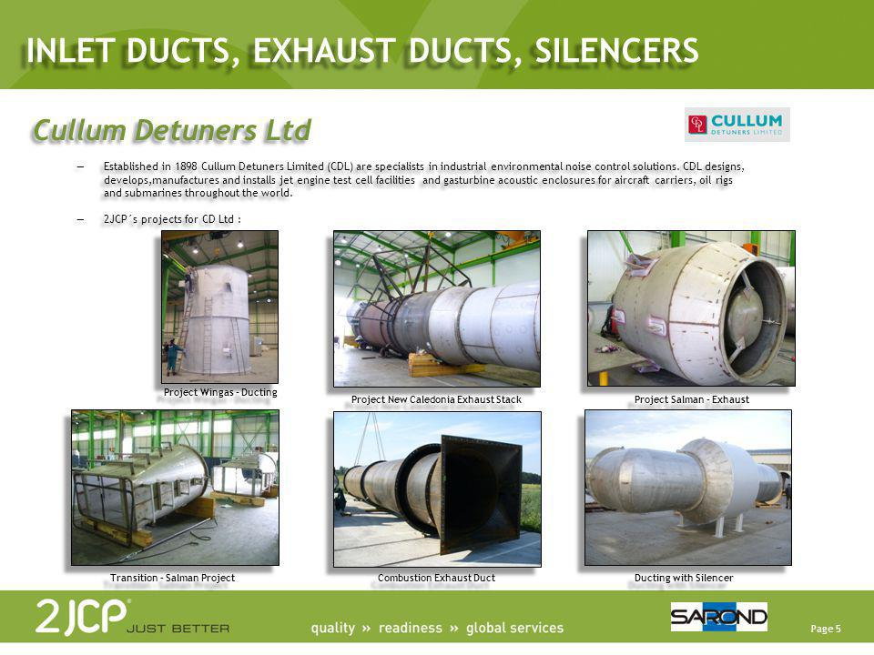 Page 5 Cullum Detuners Ltd Established in 1898 Cullum Detuners Limited (CDL) are specialists in industrial environmental noise control solutions. CDL