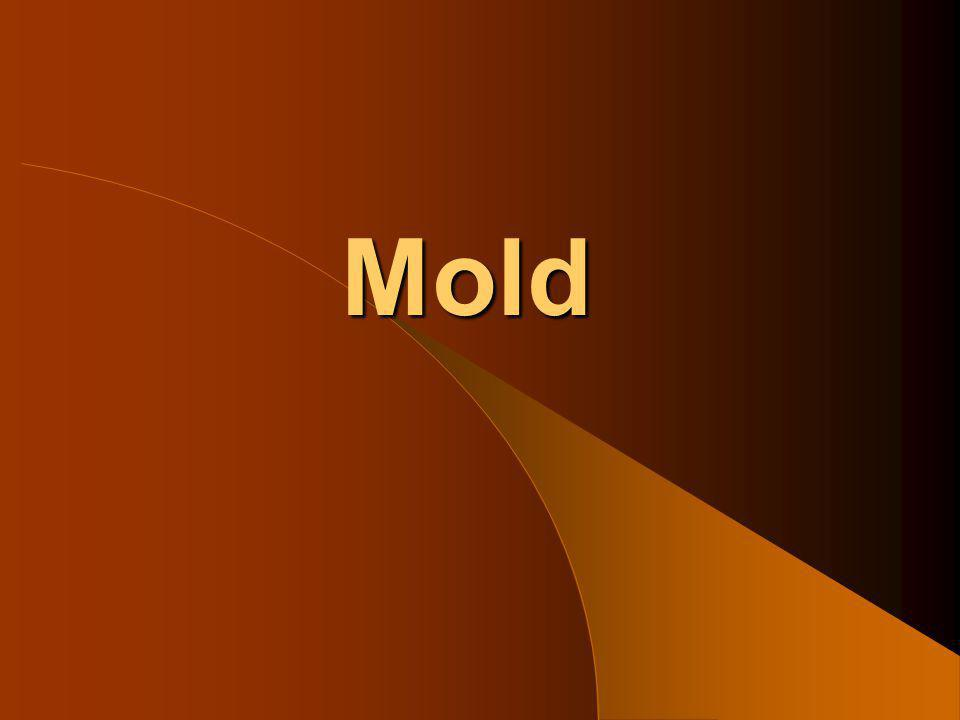 Mold Removal Methods Amount of mold & type of mold determine removal method Worst caserequires workers to wear Tyvek suits, personal respirators Worst casemold removal done under asbestos-type methods Materials disposed of as hazardous waste