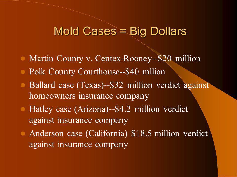 Mold Cases = Big Dollars Mold Cases = Big Dollars Martin County v.