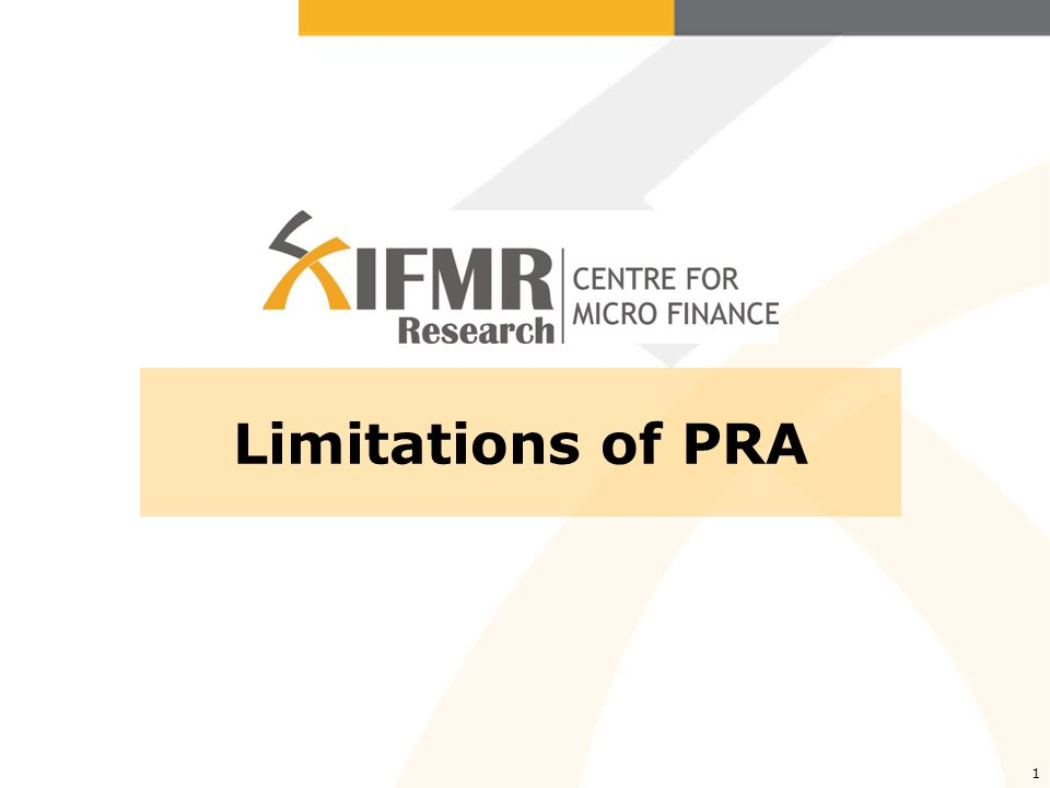 1 Limitations of PRA