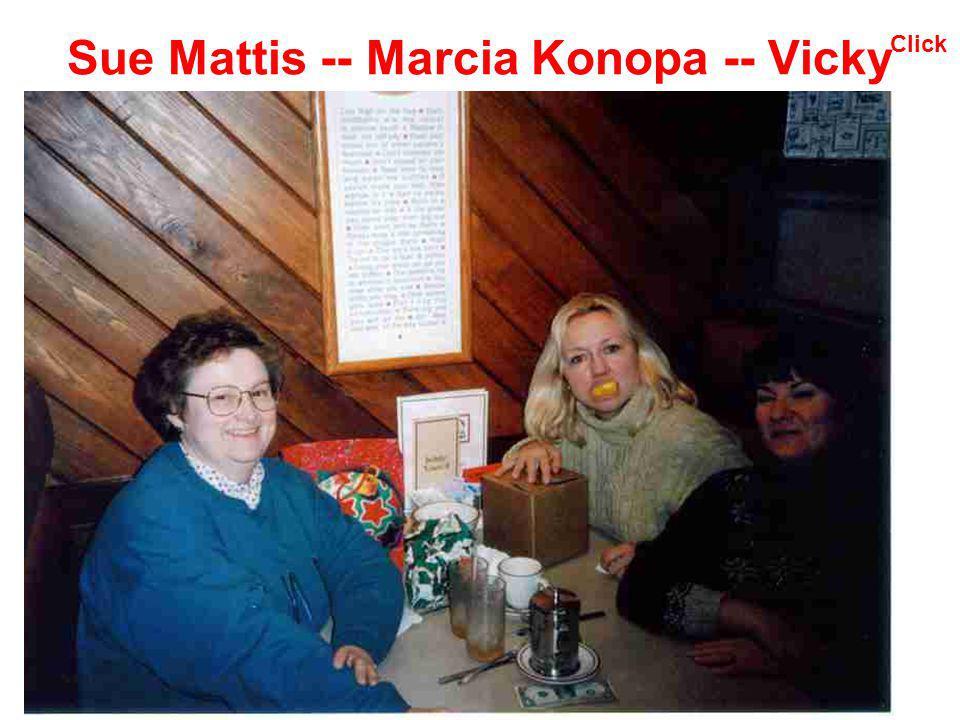 Sue Mattis -- Marcia Konopa -- Vicky Click
