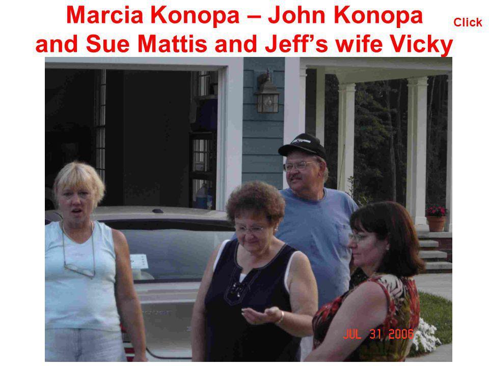 Marcia Konopa – John Konopa and Sue Mattis and Jeffs wife Vicky Click