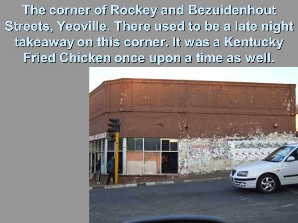 The corner of Rockey and Bezuidenhout Streets, Yeoville.
