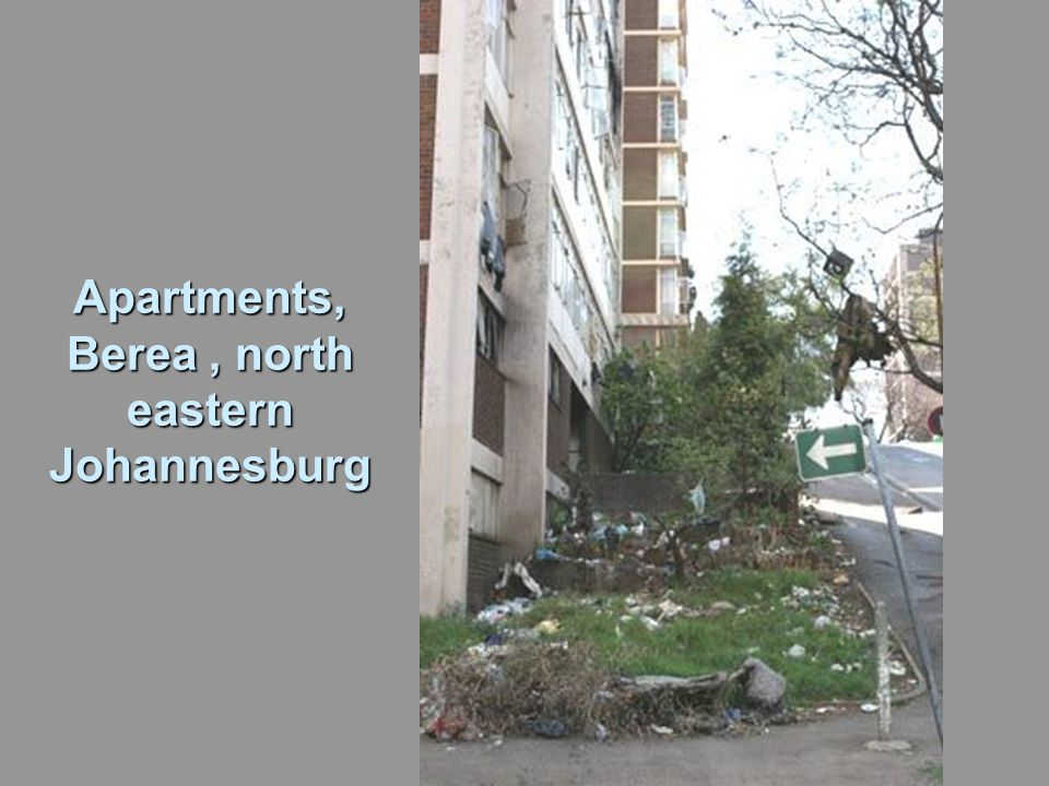Apartments, Berea, north eastern Johannesburg