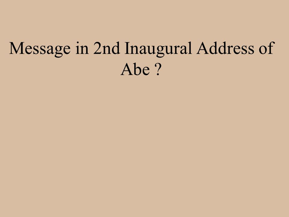Message in 2nd Inaugural Address of Abe ?