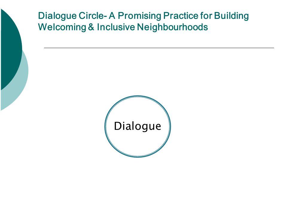 Dialogue Dialogue Circle- A Promising Practice for Building Welcoming & Inclusive Neighbourhoods
