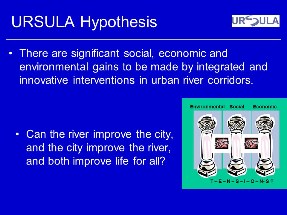 URSULA Hypothesis There are significant social, economic and environmental gains to be made by integrated and innovative interventions in urban river