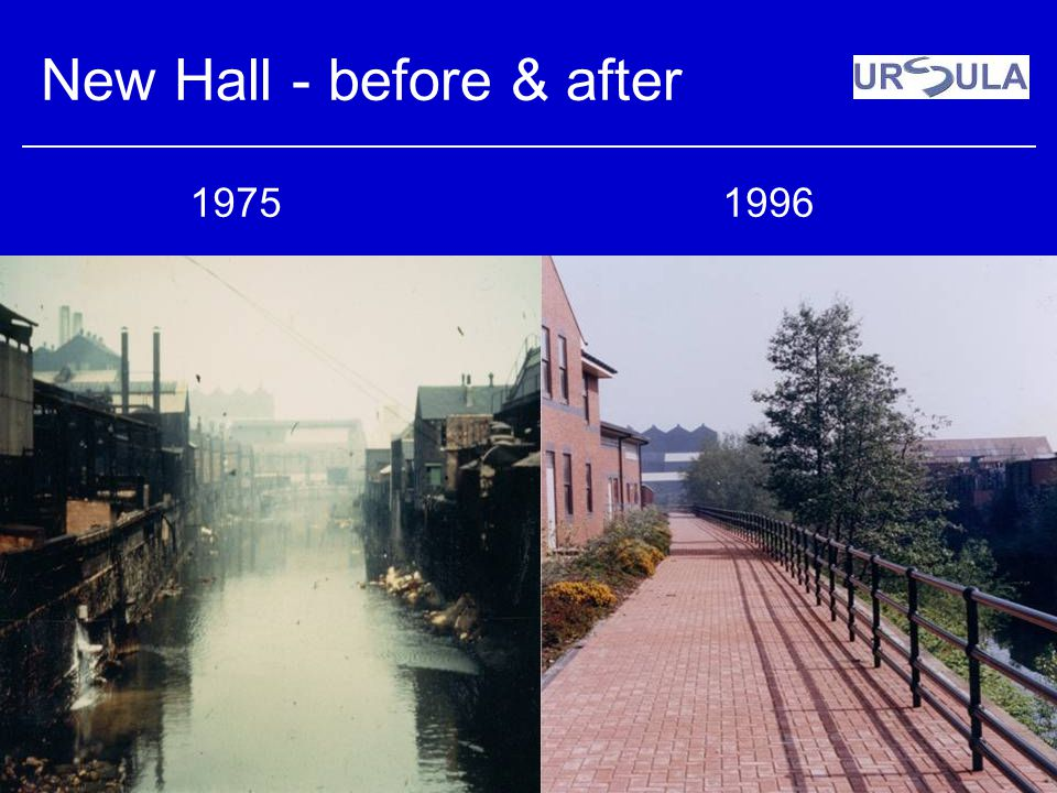 New Hall - before & after 19751996