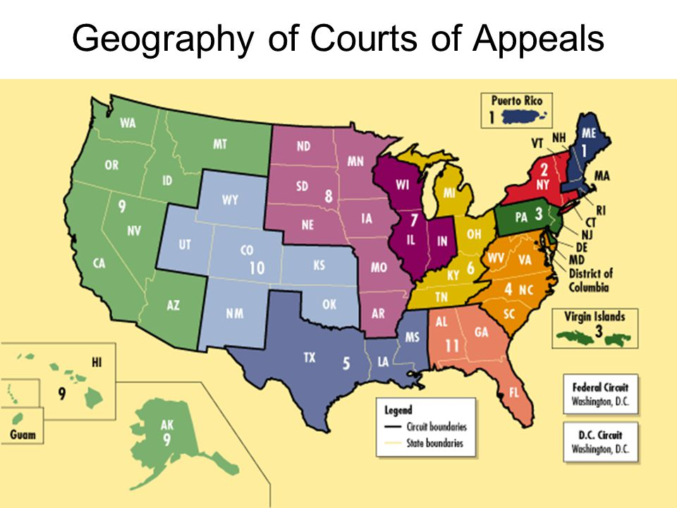 Geography of Courts of Appeals