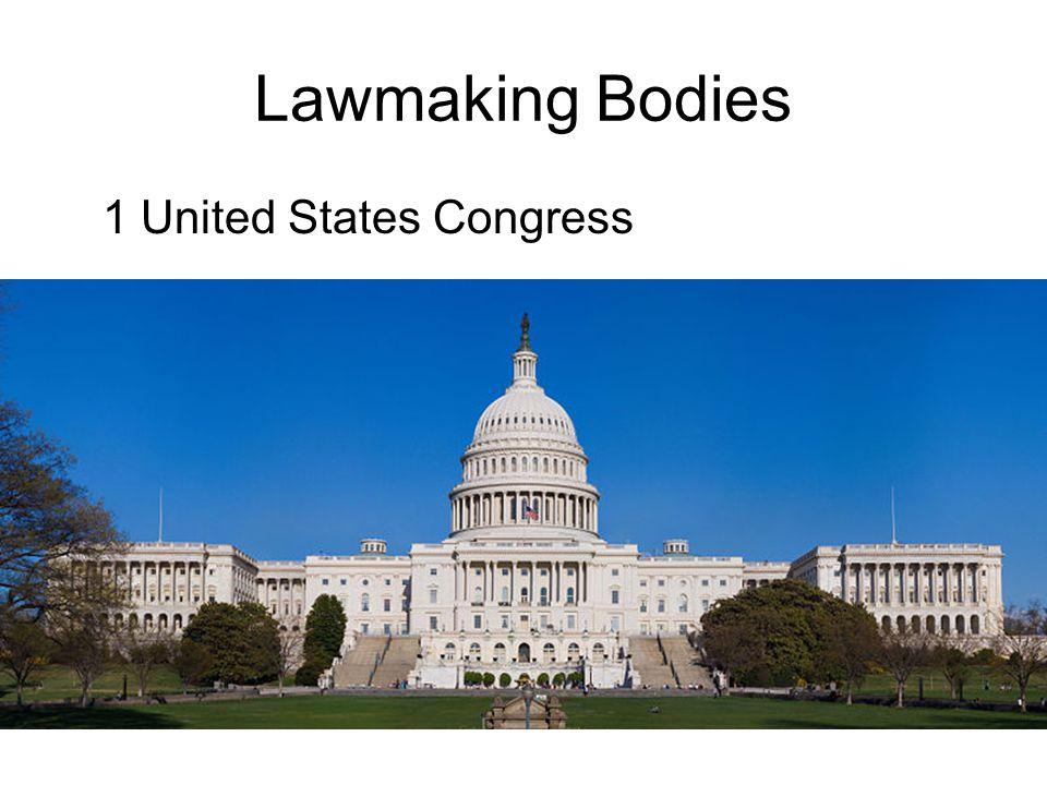 Lawmaking Bodies 1 United States Congress