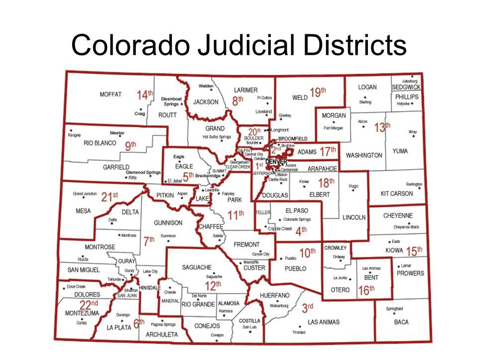 Colorado Judicial Districts