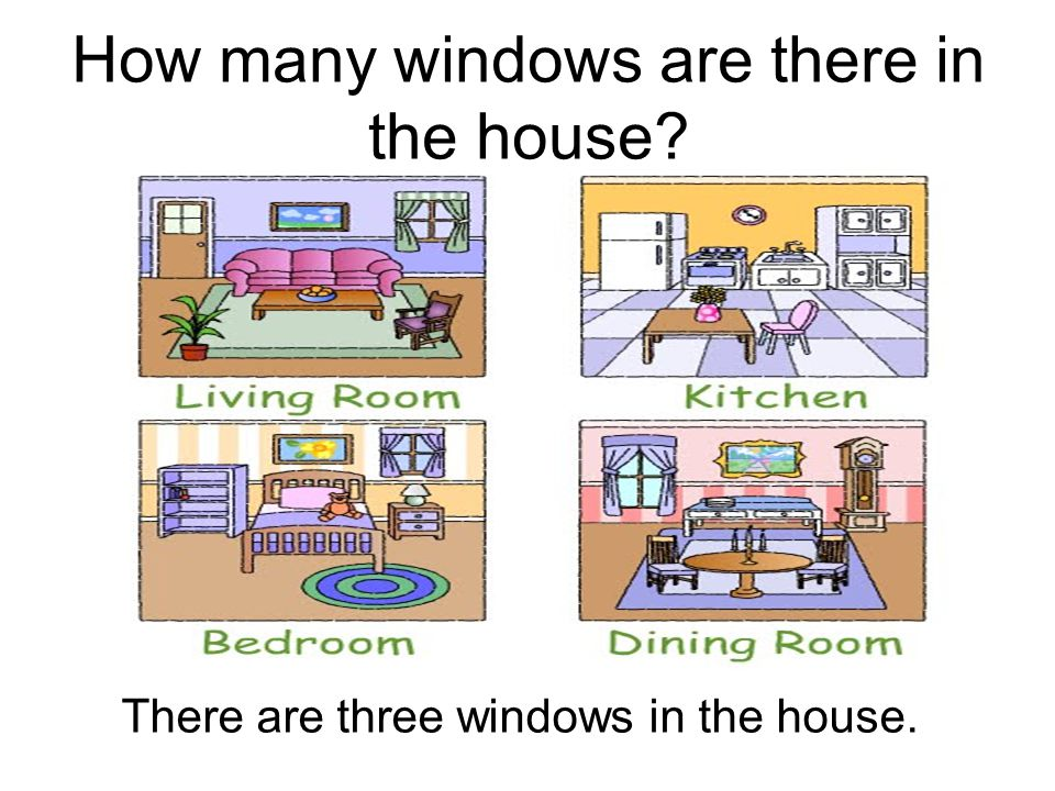 How many windows are there in the house? There are three windows in the house.