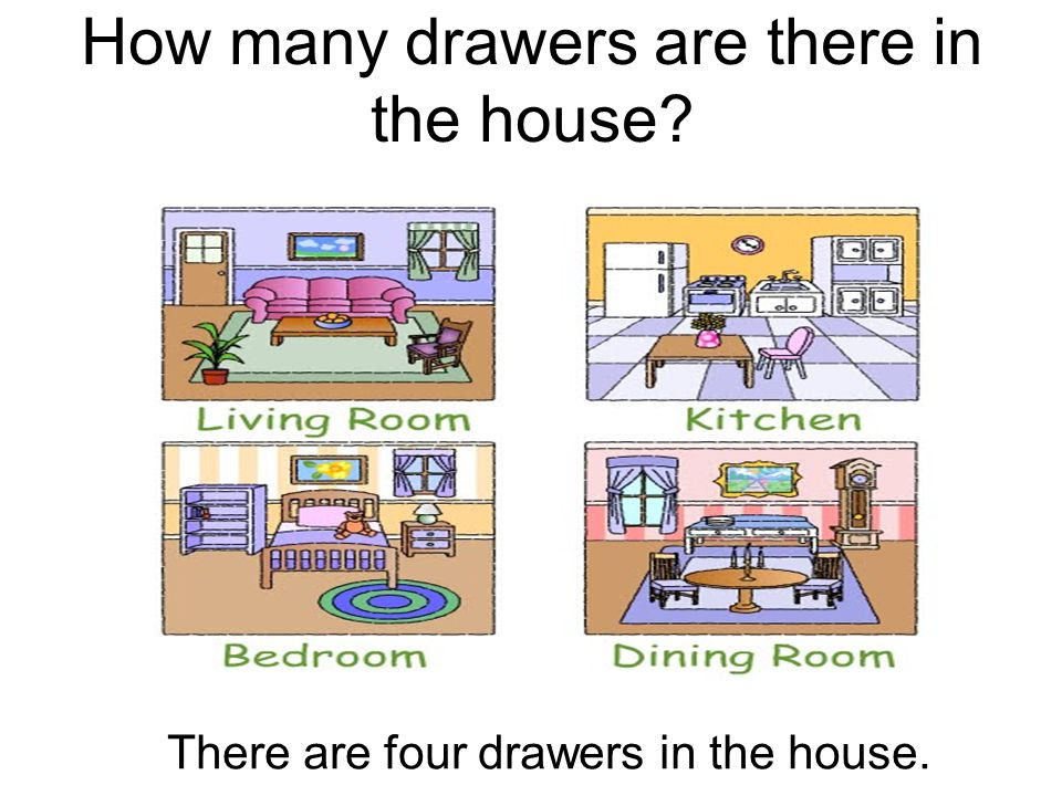 How many drawers are there in the house? There are four drawers in the house.