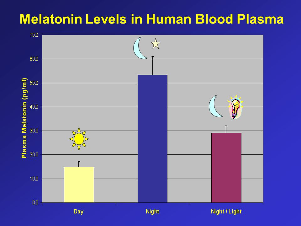 Melatonin Levels in Human Blood Plasma