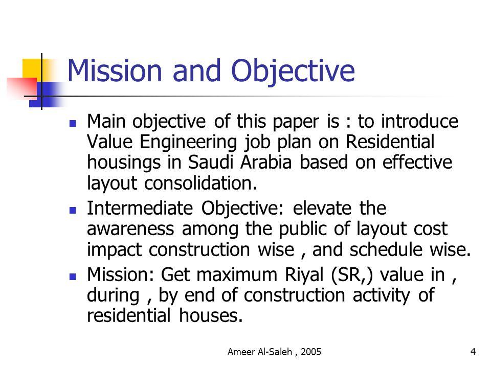 Ameer Al-Saleh, 20053 INDEX Mission And Objective Flash Points Fact Sheet Sample of Designs VE Job Plan 1.