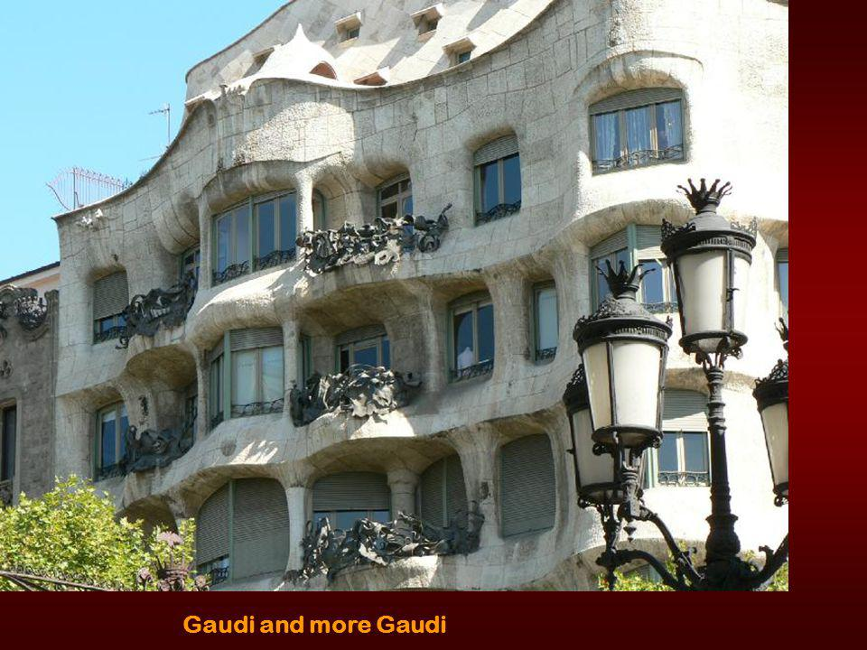 Barcelona, Entrance Building at Park by Gaudi