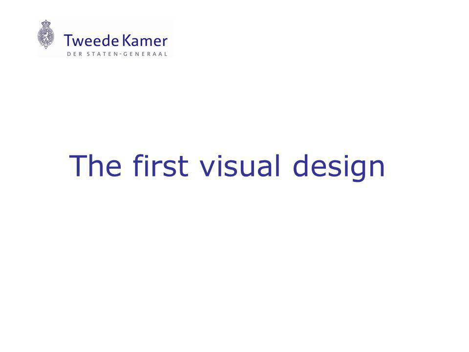 The first visual design