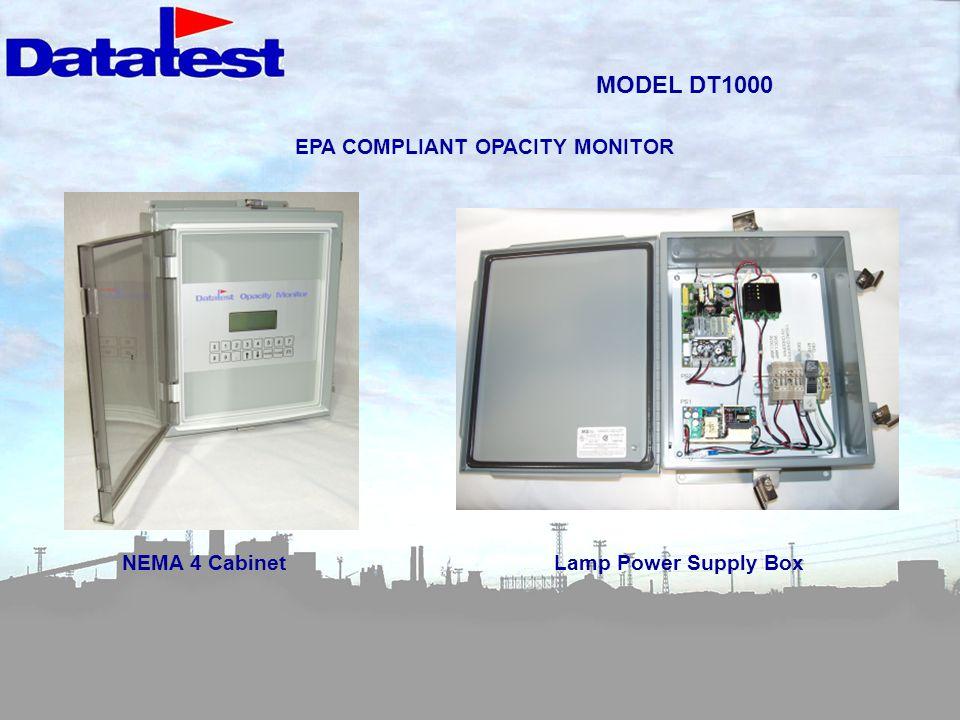 MODEL DT1000 NEMA 4 CabinetLamp Power Supply Box EPA COMPLIANT OPACITY MONITOR