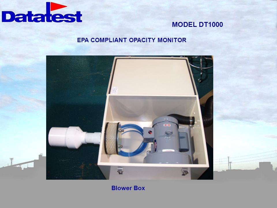 MODEL DT1000 Blower Box EPA COMPLIANT OPACITY MONITOR