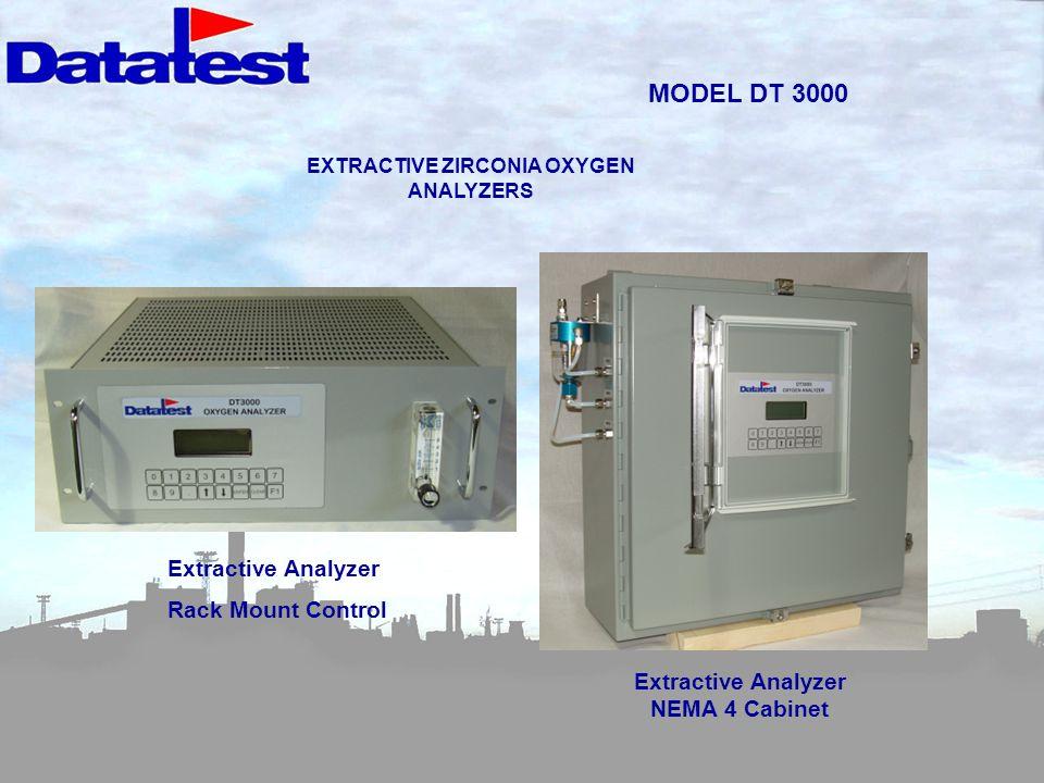 MODEL DT 3000 Extractive Analyzer Rack Mount Control Extractive Analyzer NEMA 4 Cabinet EXTRACTIVE ZIRCONIA OXYGEN ANALYZERS