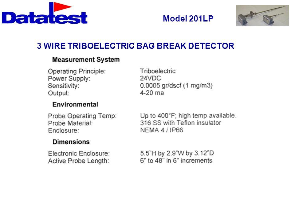 Model 201LP 3 WIRE TRIBOELECTRIC BAG BREAK DETECTOR