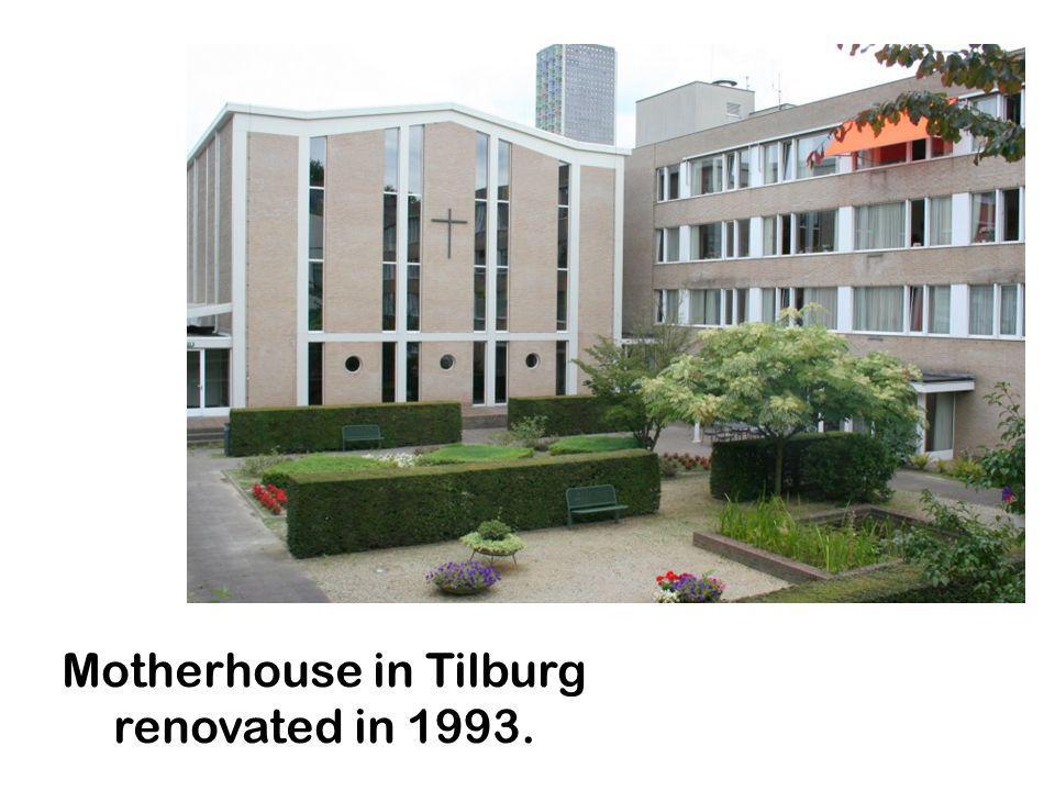 Motherhouse in Tilburg renovated in 1993.