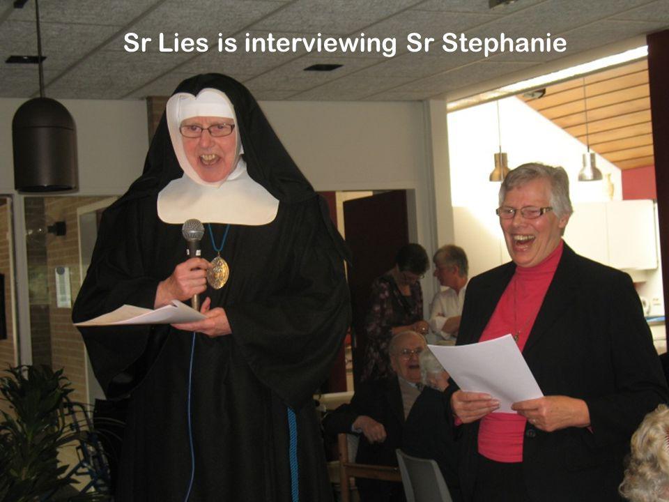 Sr Lies is interviewing Sr Stephanie