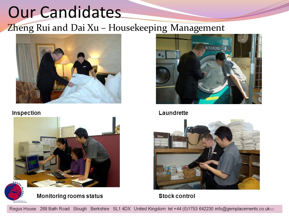 Our Candidates Regus House 268 Bath Road Slough Berkshire SL1 4DX United Kingdom tel +44 (0)1753 642230 info@gemplacements.co.uk Zheng Rui and Dai Xu