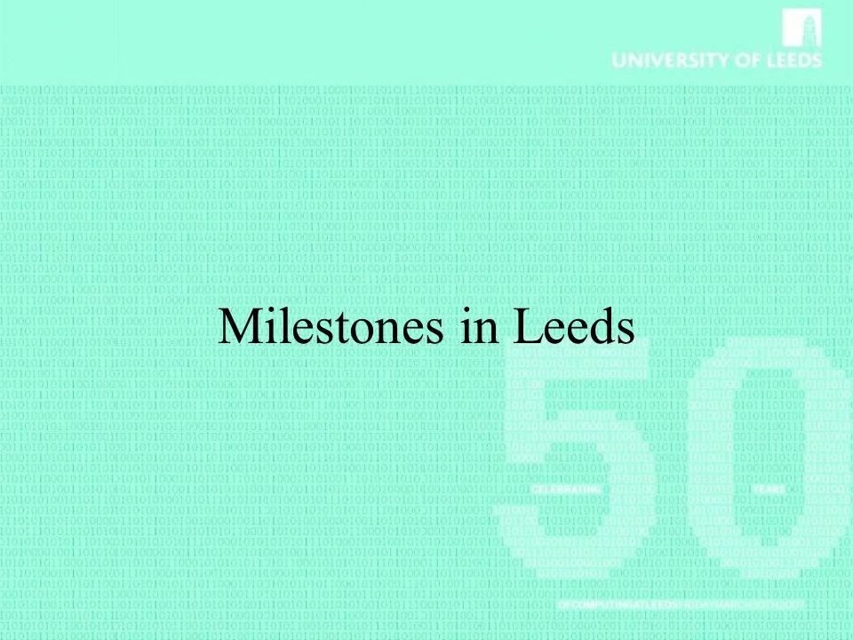 Milestones in Leeds