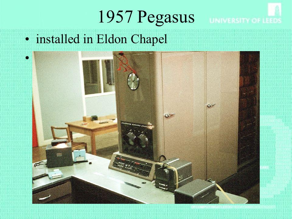 1957 Pegasus installed in Eldon Chapel Known as Lucifer