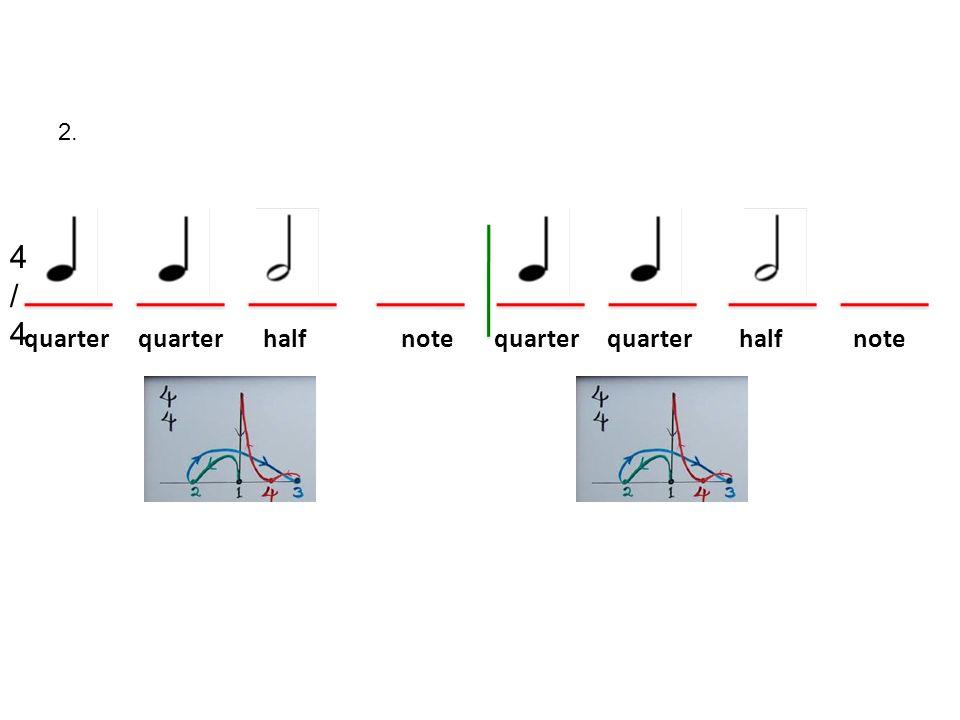 2. quarter quarter half note quarter quarter half note 4/44/4