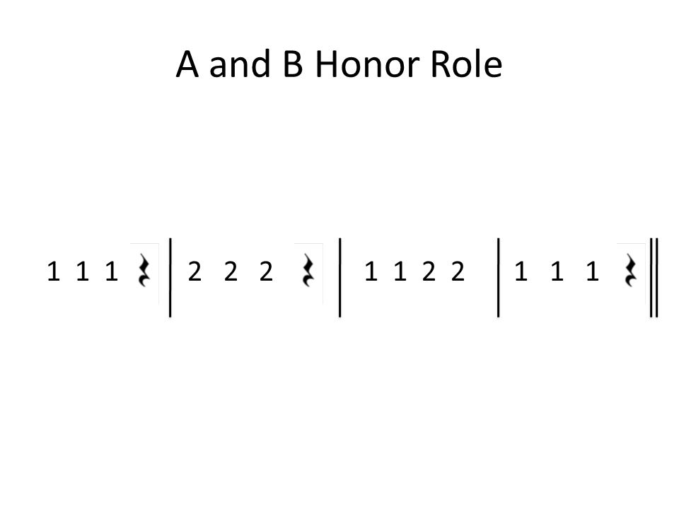 A and B Honor Role 1 1 1 2 2 2 1 1 2 2 1 1 1