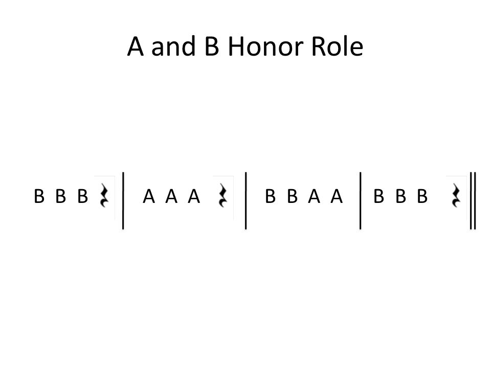 A and B Honor Role B B B A A A B B A A B B B