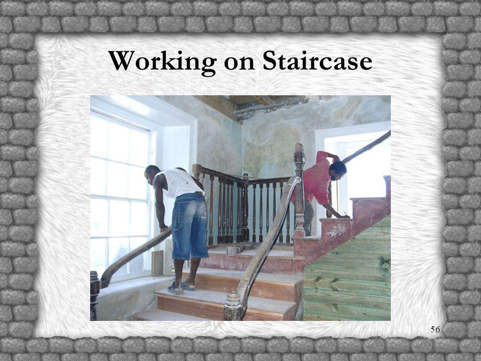 55 Rebuilding Manse Staircase