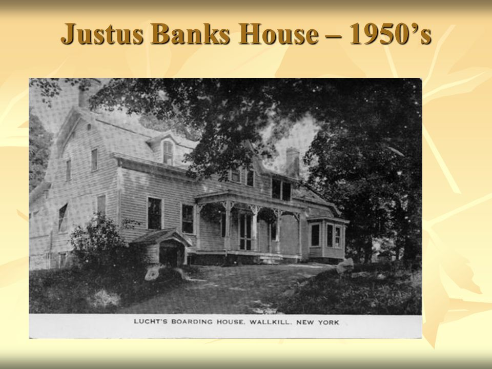 Justus Banks House – 1950s