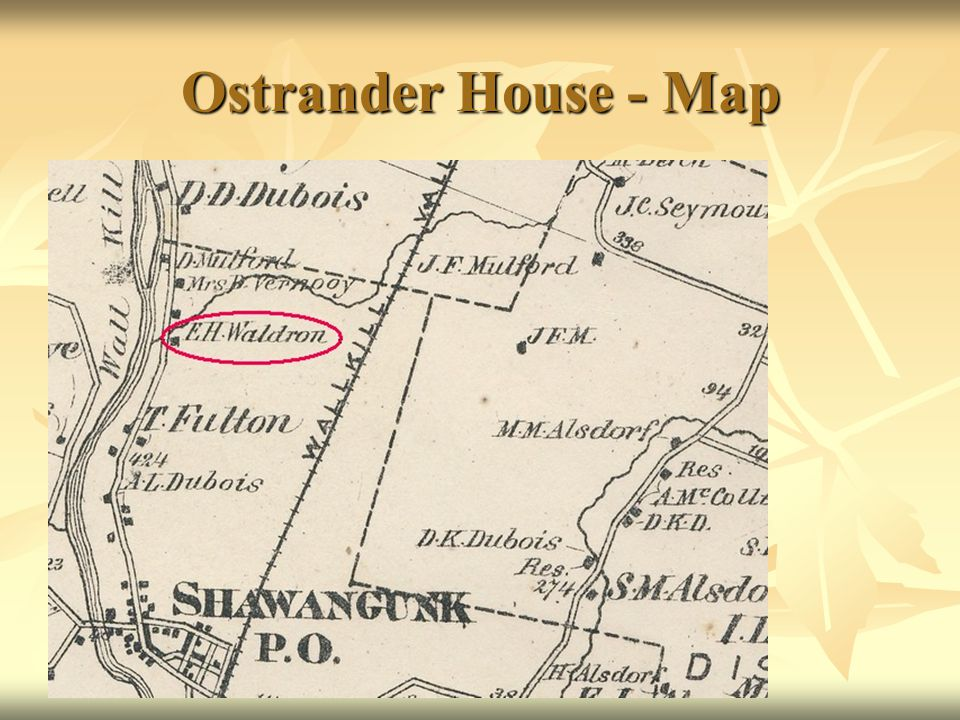 Ostrander House - Map