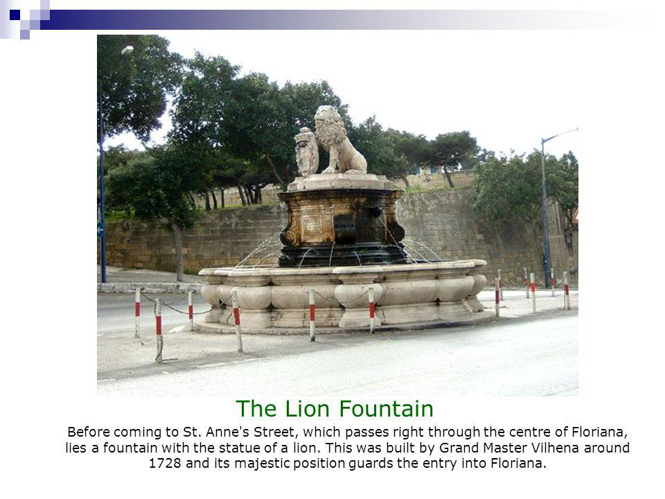 The Lion Fountain Before coming to St.