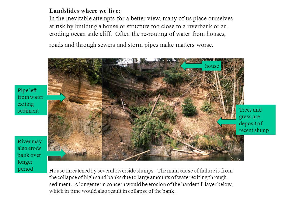 What are we doing about landslides.