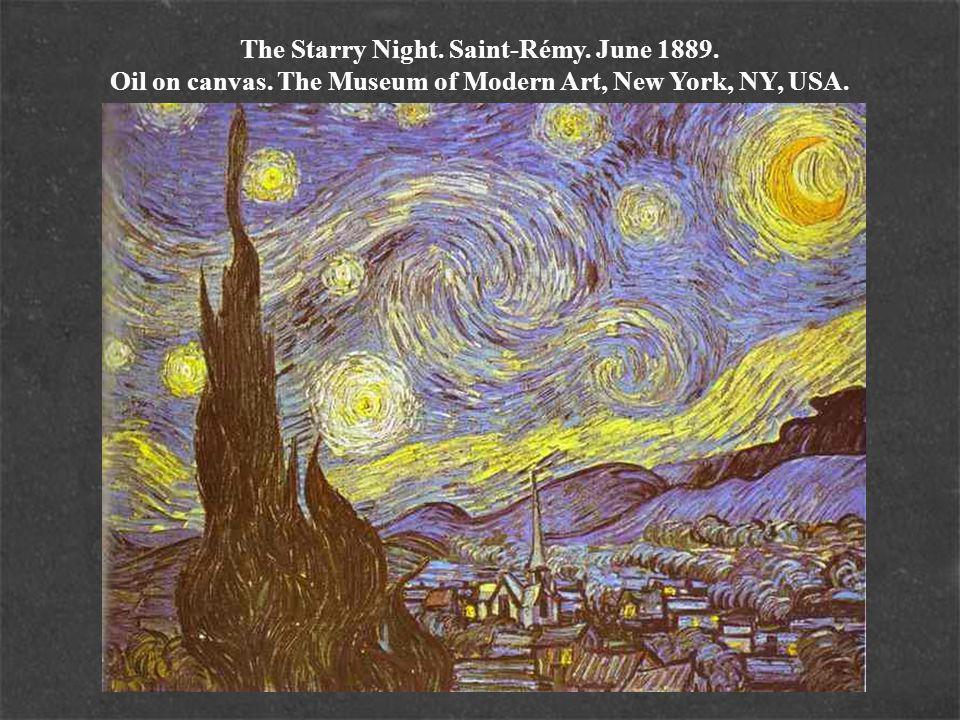 The Starry Night. Saint-Rémy. June 1889. Oil on canvas.