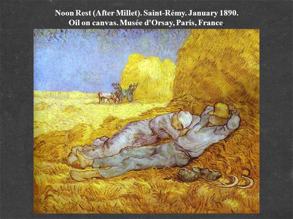 Noon Rest (After Millet). Saint-Rémy. January 1890. Oil on canvas. Musée d Orsay, Paris, France.