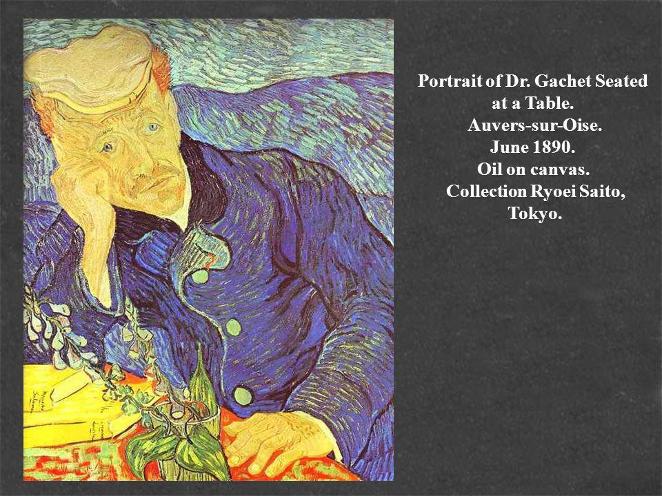 Portrait of Dr. Gachet Seated at a Table. Auvers-sur-Oise.