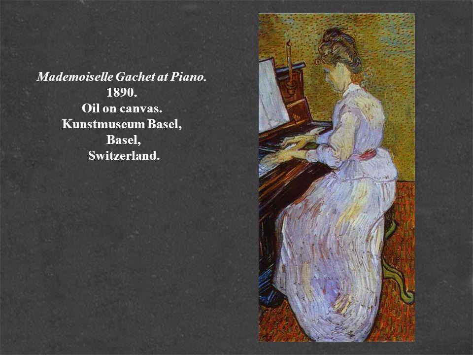 Mademoiselle Gachet at Piano. 1890. Oil on canvas. Kunstmuseum Basel, Basel, Switzerland.
