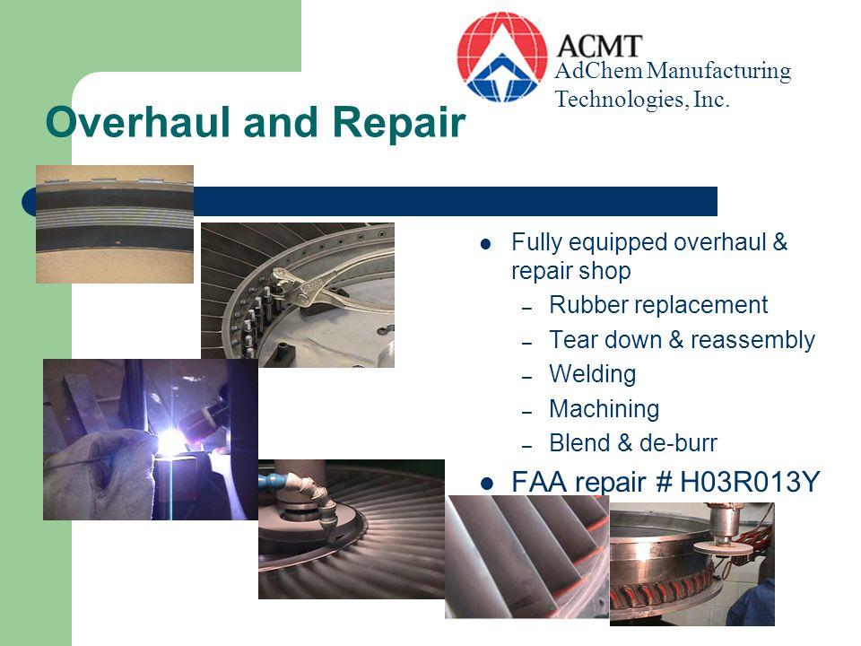 Welding Seam Welding, Spot Welding, Titanium Welding, Full resistance welding capabilities NADCAP 124956 AdChem Manufacturing Technologies, Inc.